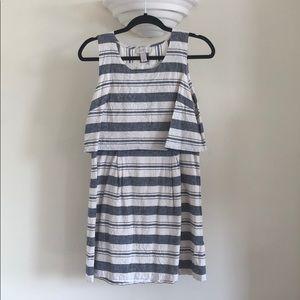 Loft 8P striped linen/cotton dress